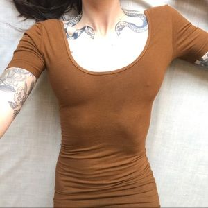 American Apparel Dresses - American apparel brown bodycon dress